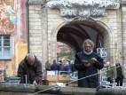 Antiquariate vor dem Rathaus von Bamberg