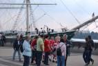 Museumsschiff Rickmer mit Bayern Fans